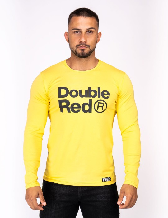 Red Neon Long Sleeve T-Shirt Yellow
