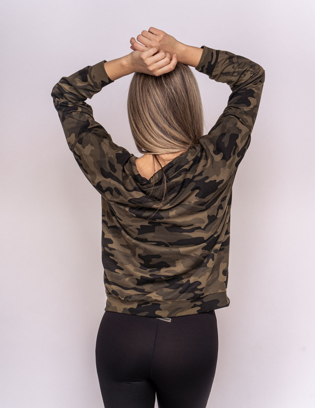 Sweatshirt Green Camo Collection GOLD