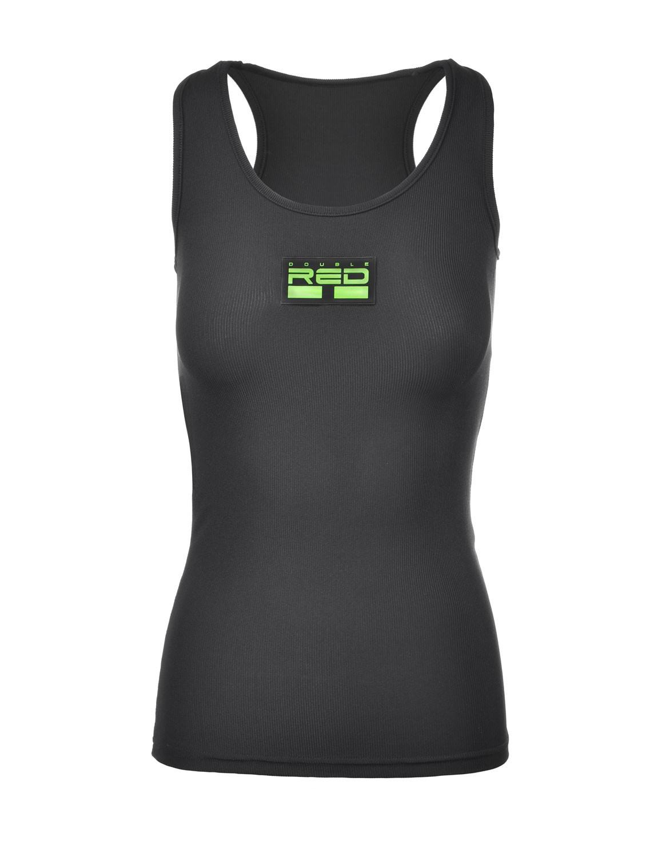 Tank Sportisyourgang Black 3d Neon Logo Green