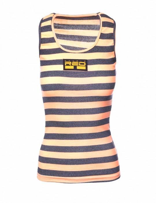 Tank Sportisyourgang OrangeGrey 3d Neon Logo Orange