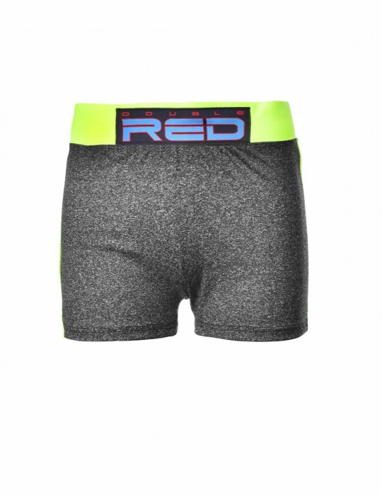 Shorts SPORT IS YOUR GANG Function Sport Grey/Neon Yellow