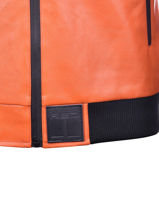 SOPRANO Leather Jacket Orange