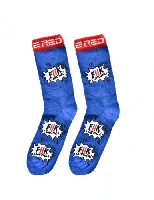 Ponožky DOUBLE FUN FCK Corona Blue