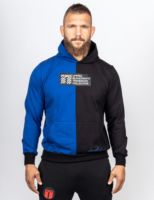 Hoodie DOUBLE FACE BW TRADEMARK Blue/Black