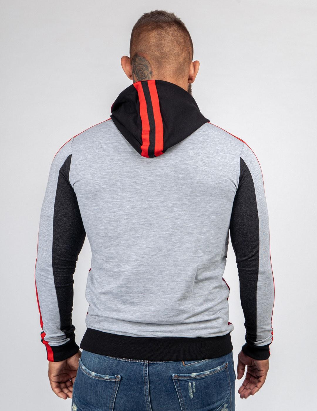 Sweatshirt OUTSTANDING Light Grey/Bordeaux
