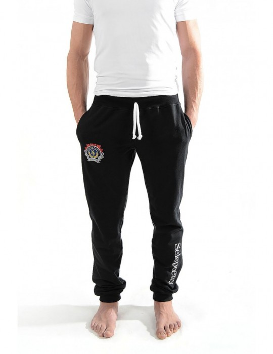 SELEPCENY BLACK ROYAL FORCE FINE COMFORT 70% COTTON SWEATPANTS