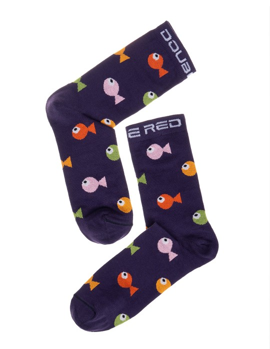 DOUBLE FUN Socks Crazy Fish