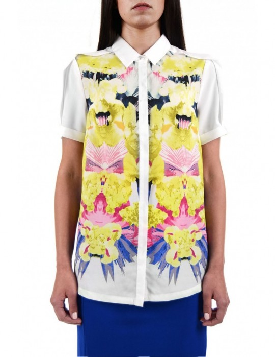 SELEPCENY Flowers 100% COTTON SHIRT