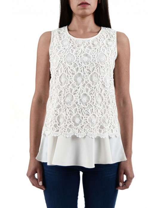 SELEPCENY Flowers White 100% COTTON TOP
