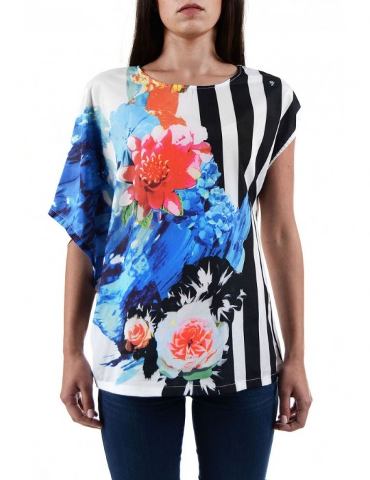 SELEPCENY Flowers Printed 100% COTTON TOP