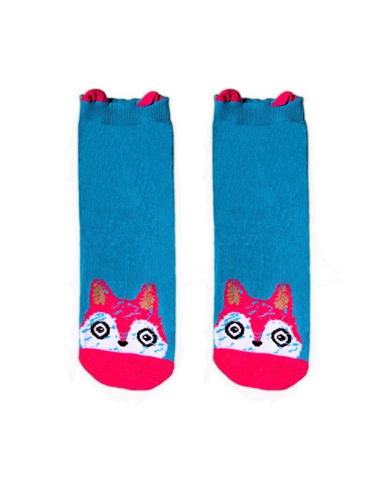 KID FUN Socks 3D Ears Pinky Fox