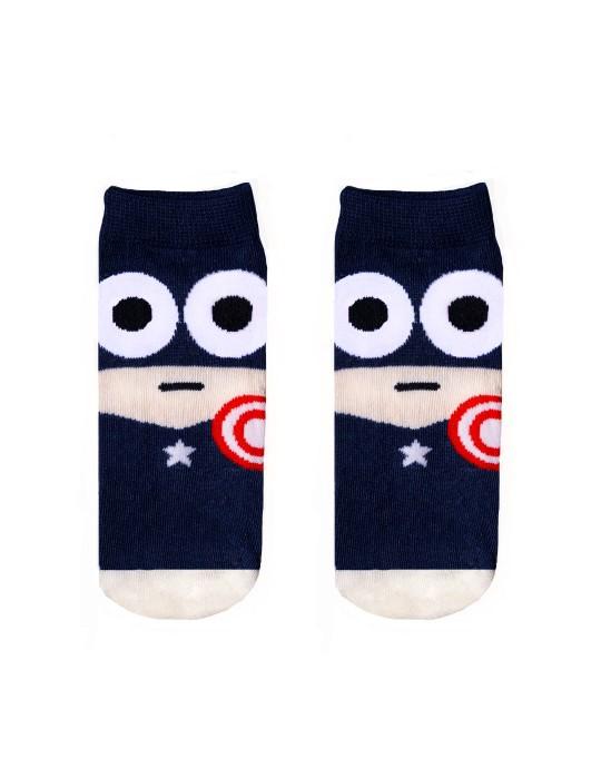 KID FUN Socks Captain Red Hero