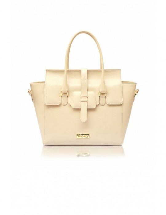 Luxusná dámska kožená kabelka Selepceny Aura