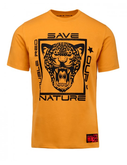Natural Predators Leopard T-Shirt Orange