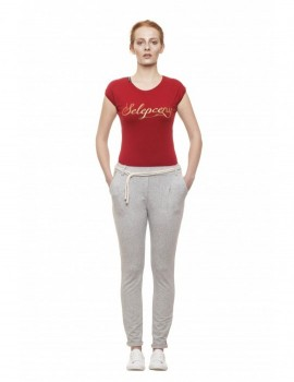 SELEPCENY BASIC RED COTTON T-SHIRT