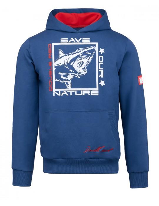 Natural Predators Shark Hoodie Navy