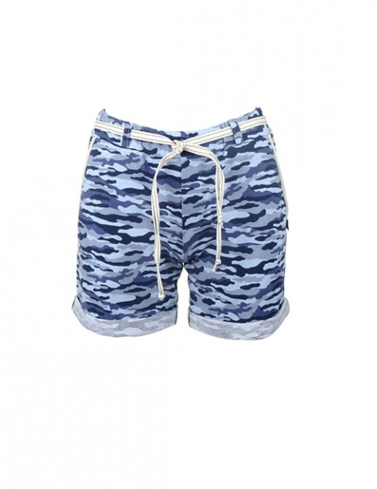 DR W Blue Camo Shorts
