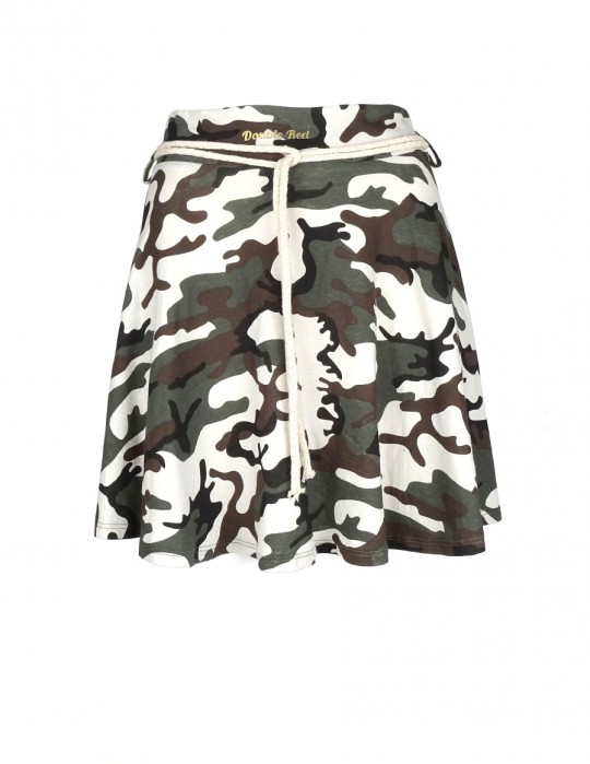Limited camo loose sweatskirt