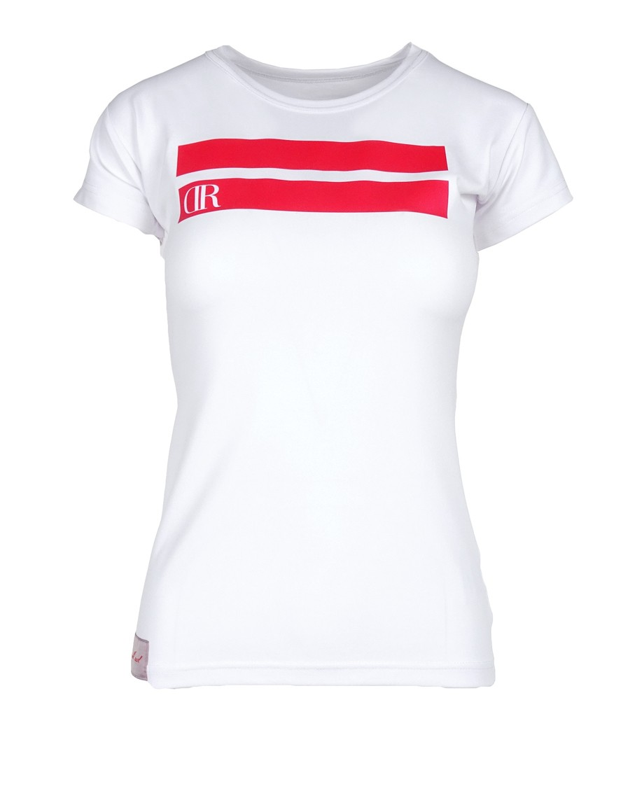 DR W T-shirt Stripes Edition White