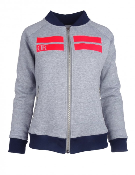 Bomber Sweatshirt Striped Edition Grey