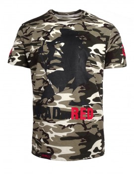 T-shirt Dead or Red B&W Camo