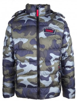 Quilted Jacket Life Has No Reprise Blue Camo