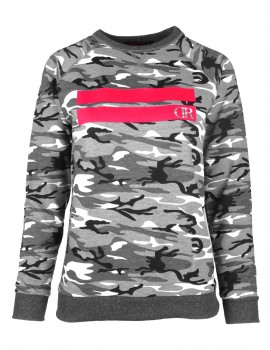 Sweatshirt Stripes B&W Camo