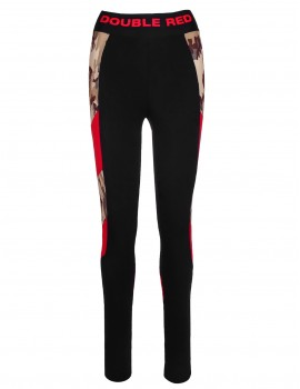 Double Red Babe Leggins Black