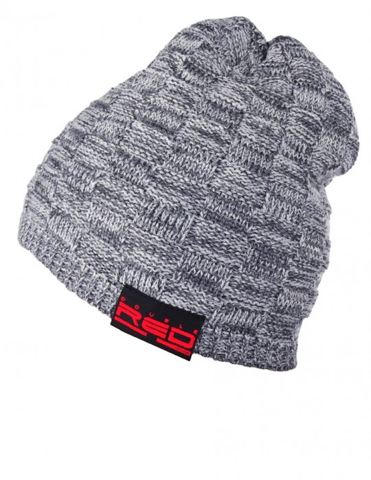 DR Knit Beanie Hat Marble Grey