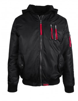DR M Hoodie Flight Jacket Black