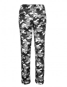DR W Trousers Slim B&W Camo