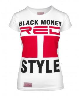 DR W Black Money Style T-shirt White