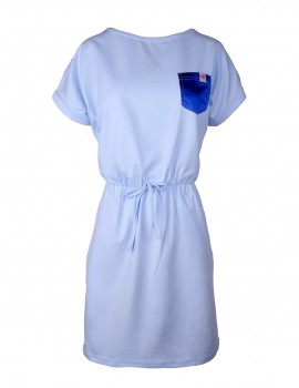 DR Summer Short Tee Dress Baby Blue