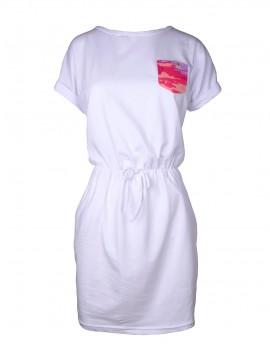 DR Summer Short Tee Dress White