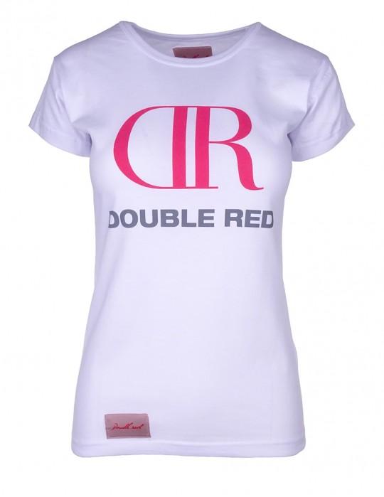 DR W White T-Shirt Big Pink Logo