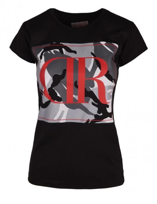 DR W T-shirt Camodresscode Black Red Logo