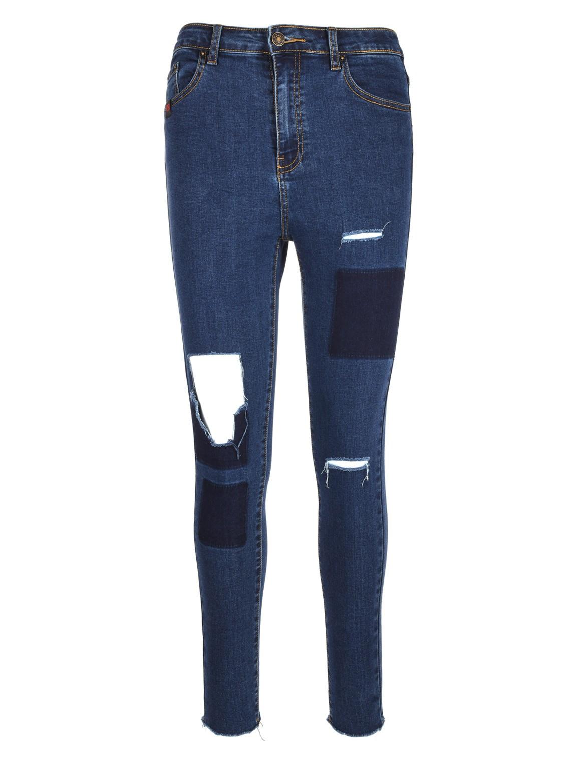 DR W Mega Rip Jeans Dark Blue
