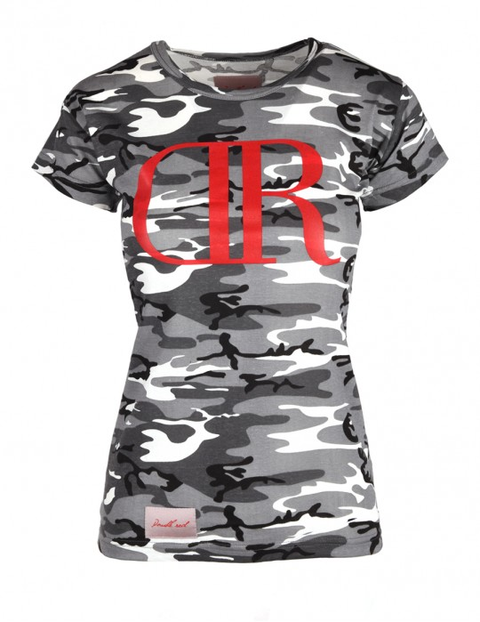 DR W T-shirt B&W Camodresscode with Red Logo