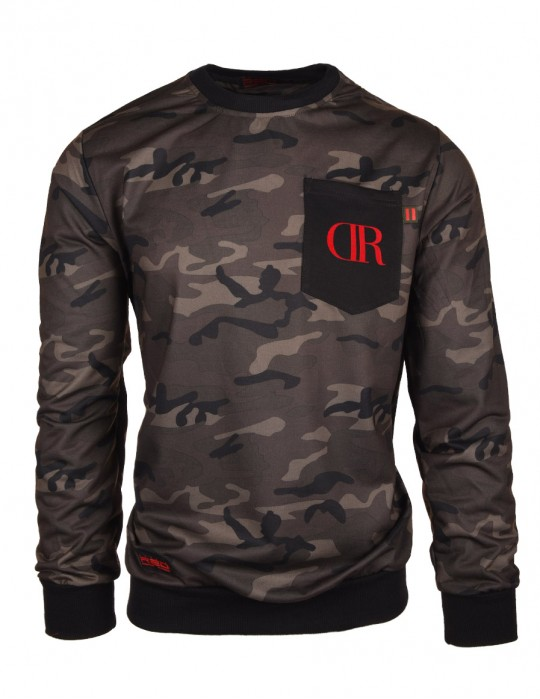 Sweatshirt Camo Pocket Dark