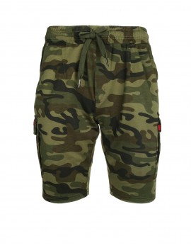 DR M Woodland Sweat Shorts Camo Dark Green