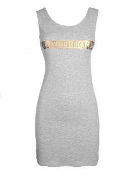 DR Short Slim Dress GOLDFOREVER Grey