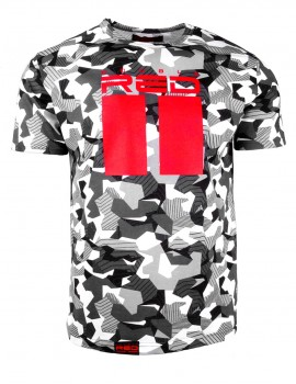 T–Shirt All Logo B&W Geometric Camo