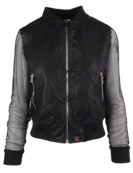 DR W Summer Bomber Jacket with Fishnet Sleeves