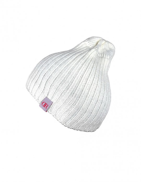 DR Knit Beanie Hat White