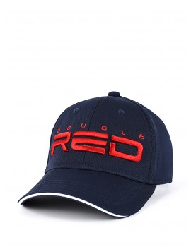 DOUBLE RED Cool Comfort Technology Golf 3D Embroidery Logo Cap Blue