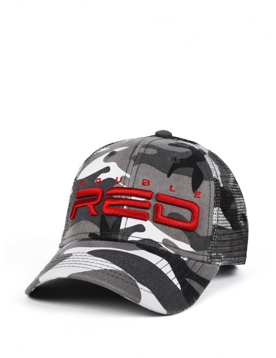 DOUBLE RED Soldier 3D Embroidery Logo Cap B&W