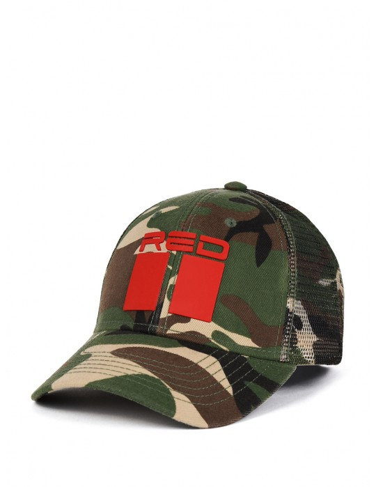 DOUBLE RED 3D Camodresscode Green Cap