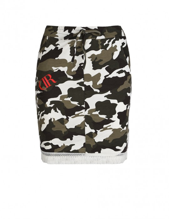 Knee Length Camouflage Sweatskirt