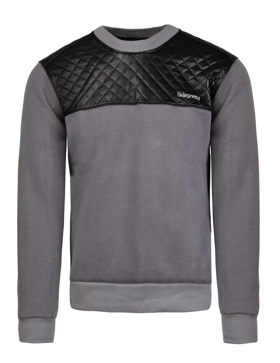 SELEPCENY Cotton Sweatshirt Grey