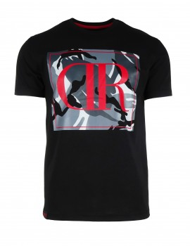 Čierne tričko Camodresscode_red